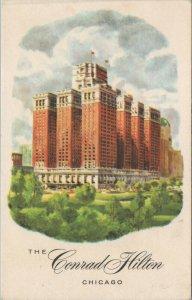 1957 Conrad Hilton Hotel Chicago Vintage Postcard