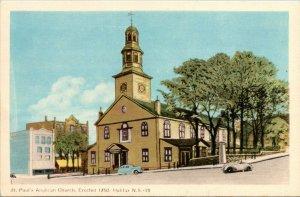 St. Paul's Anglican Church Halifax Novia Scotia Canada Postcard