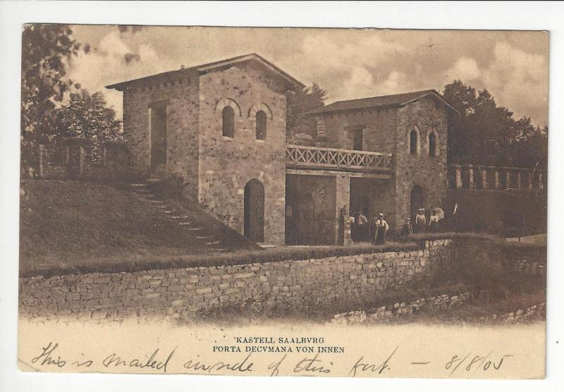 1905 Germany Photo Postcard - Saalburg Castle - Posted In Castle