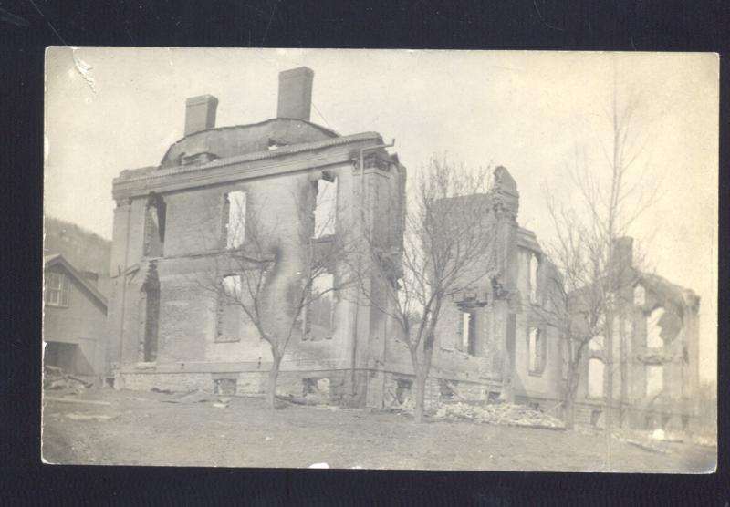RPPC MIDDLEBURG NEW YORK FIRE RUINS BUILDING DISASTER REAL PHOTO POSTCARD