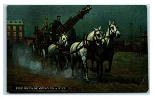 Postcard Fire Brigade Going to a Fire, unused Y65