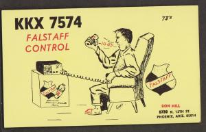 CB QSL Card - Falstaff Control - Ron Hill Phoenix, Arizona