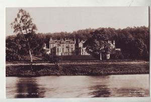 P1062 vintage RPPC Abbotsford mansion, view on lake sotland england