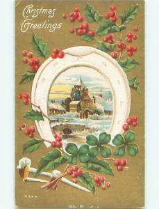 Divided-Back CHRISTMAS SCENE Great Postcard W9886