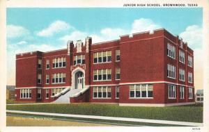 Brownwood Texas~Junior High School Building~1920s Rogers Studio Postcard