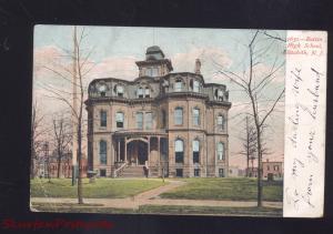 ELIZABETH NEW JERSEY BATTIN HIGH SCHOOL ANTIQUE VINTAGE POSTCARD NJ