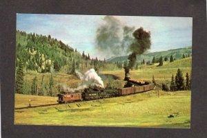 NM Denver & and Rio Grande Railroad Train Narrow Gauge New Mexico Postcard