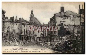 Verdun - Ruins after the bombing - Old Postcard