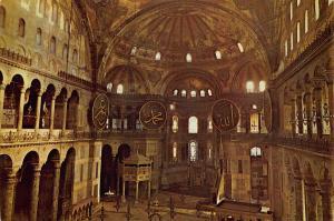 Turkey Istanbul Interior of St Sophia Museum Postcard