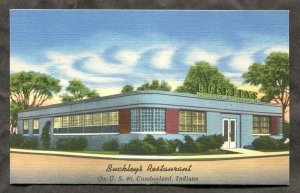 5259 - CUMBERLAND Indiana 1950s Buckley's Restaurant