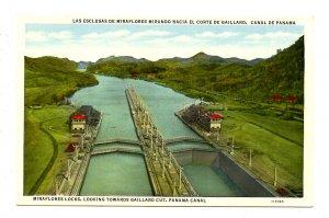 Panama - Canal Zone. Miraflores Locks & Gaillard Cut