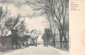 Davenport Iowa~Entrance To Rock Island Arsenal~1905 Postcard