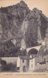 Frontiere Franco-Italienne- Le Pont Saint Louis, Menton (Alpes Maritimes), Fr...