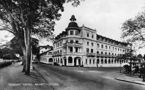 Ceylon Queen's Hotel Kandy Street Postcard