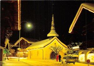 us8270 st niklaus kapelle festbeleuchtung gstaad  switzerland