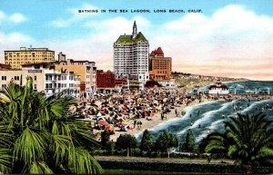 California Long Beach Bathing In The Sea Lagoon
