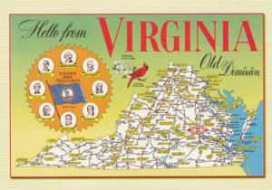Hello From Virginia With Map