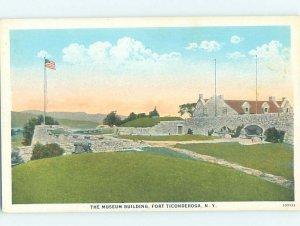 W-border MILITARY SCENE Fort Ticonderoga New York NY AF8587