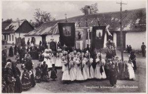 Templomi Kormenet Hungary Religious Procession Postcard