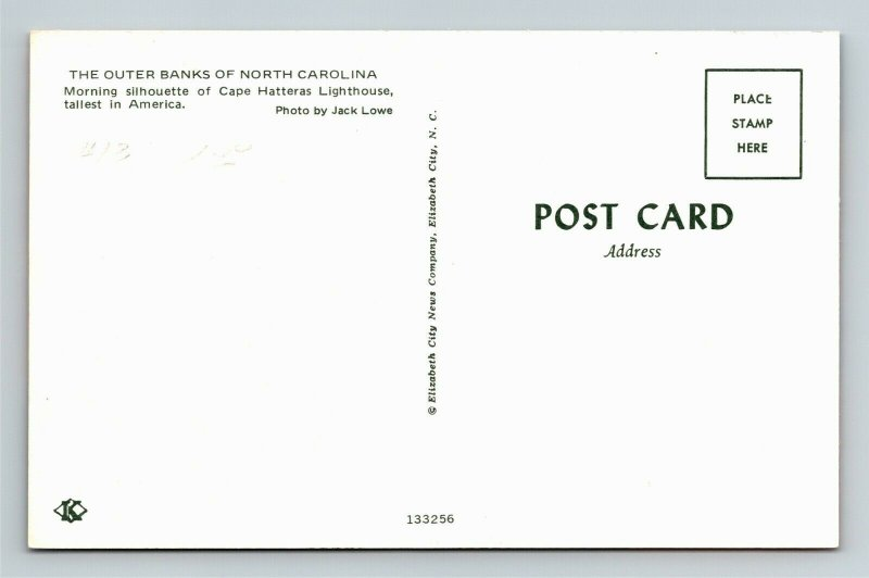 Outer Banks NC, Cape Hatteras Lighthouse, Chrome North Carolina Postcard