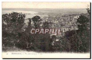 Honfleur Old Postcard Panoramic view