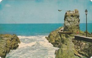 Dangerous Diving from the Observatory, Mazatlan, Mexico, 1960's PU