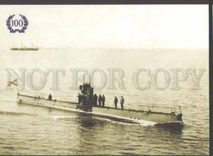 109732 RUSSIA SUBMARINE Minoga it participated in WWI postcard
