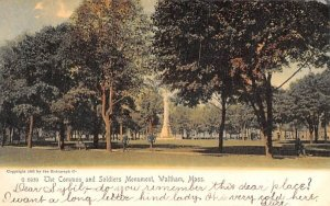 The Common & Soldiers Monument Waltham, Massachusetts