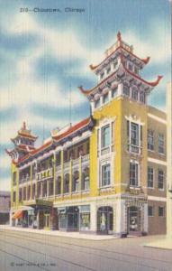 Illinois Chicago Scene In Chinatown Curteich