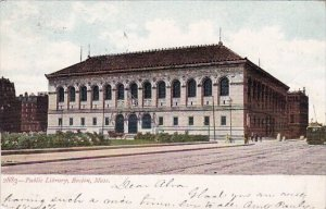 Public Library Boston Masssachusetts 1907