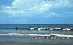 North Carolina, USA Ocean Surfing 1961 internal creases in card, postal used ...