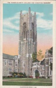 Tennessee Nashville The Tower Scarritt College For Christian Workers