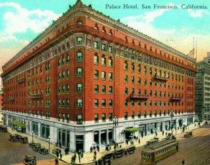 Vtg Tarjeta Postal 1929 San Francisco California Ca Palacio Hotel Calle Vista