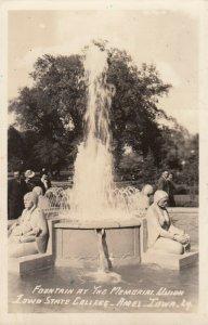 RP: AMES , Iowa , 1940s ; Iowa State College , Water Fountain