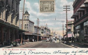HONOLULU, Hawaii, PU-1909; In the Busness District