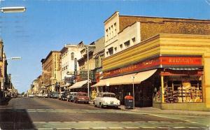 New Bedford Massachusetts~Purchase Street~Kresge's~Allen's Perfume~1958 Cars~PC