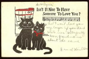 Whimiscal Cats by R.L. Wells uncopyrighted, 1907