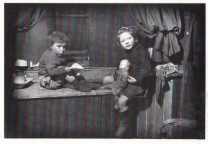 Scottish Poverty in 1940s Wooden Toy Doll Award Winning Real Photo Postcard