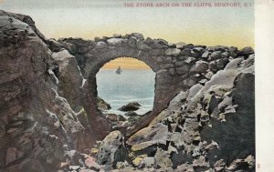 NEWPORT, Rhode Island, 1900-10s; The Stone Arch on the Cliffs