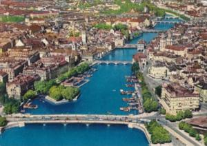 Switzerland Zurich Limmat Aerial View