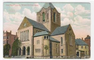 Old South Church Worcester Massachusetts 1910c postcard