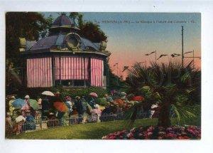232964 FRANCE MENTON concert kiosk Vintage postcard