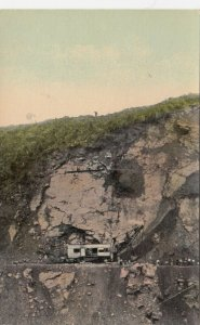 PANAMA, 1900-10s; Working in one of the deep cuts of the Panama Canal