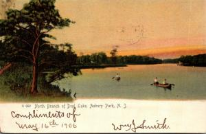 New Jersey Asbury Park Canoeing At North Branch Of Deal Lake 1905 Rotograph