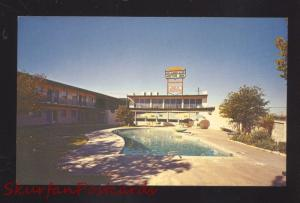 OKLAHOMA CITY OKLAHOMA DOWNTOWNER MOTOR INN ROUTE 66 VINTAGE POSTCARD