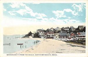Weymouth Massachusetts Wessagusett From Beach Antique Postcard K28213