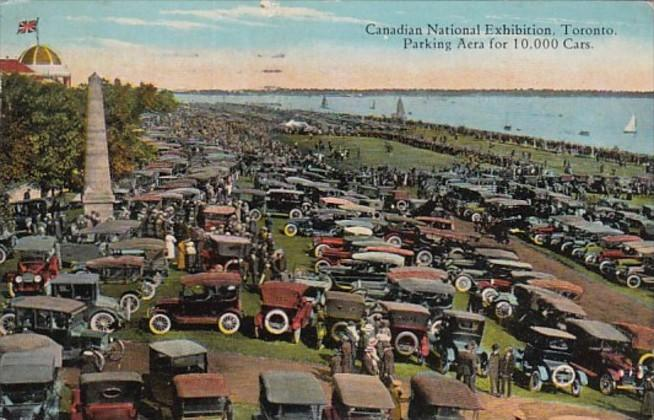 Canada Toronto Canadian National Exhibition Parking Area For 10,000 Cars 1924