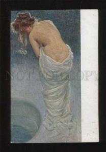 052150 Semi-Nude BELLE by KIENERK vintage ART NOUVEAU PC