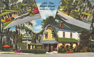 Gainesville Florida Hil Top Motor Court Multiview Antique Postcard K49945