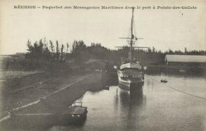 reunion island POINTE-DES-GALLETS Ocean Liner Steamer Messageries Maritimes 1899